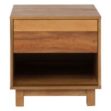 RENO 1 Drawer Bedside Table, Natural