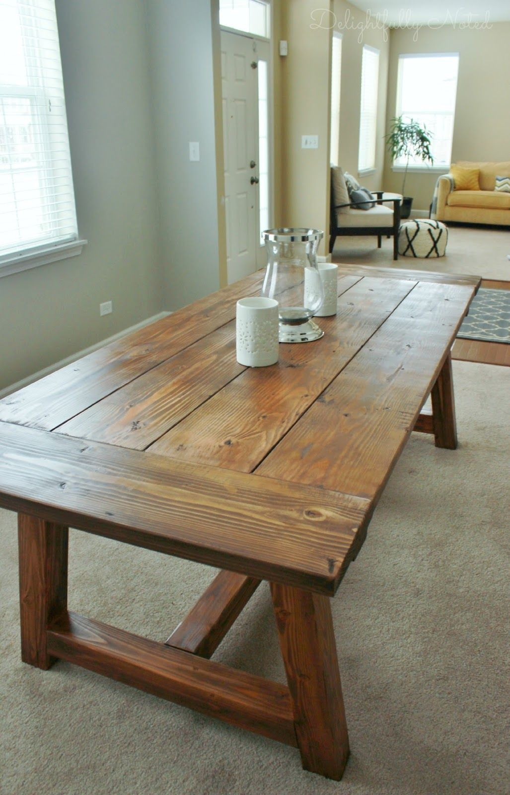 Beau DIY Farmhouse Table Restoration Hardware Knockoff. Farmhouse Dining Room ...