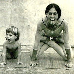 1973 vintage yoga with mother and sun vintage yoga photo