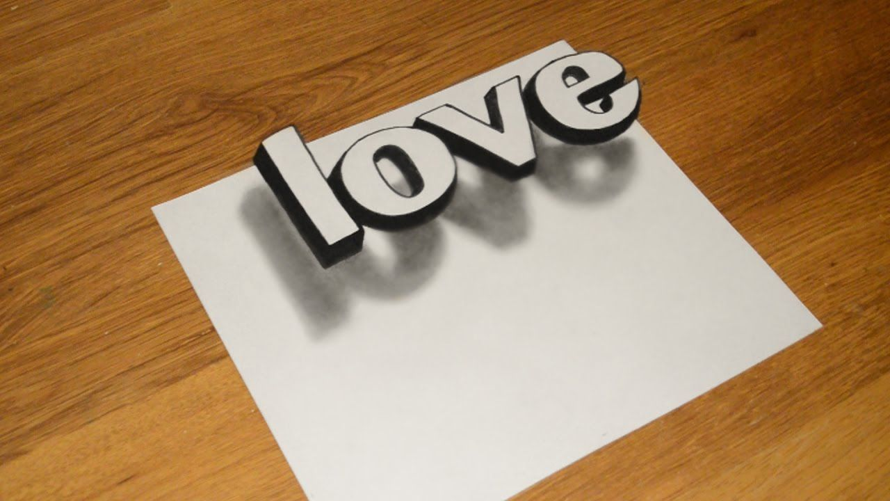 Simple 3d Graffiti How To Draw The Illusion Of Love Optical In
