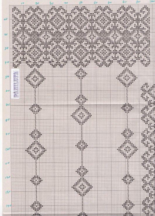 Filet crochet curtain dghgch