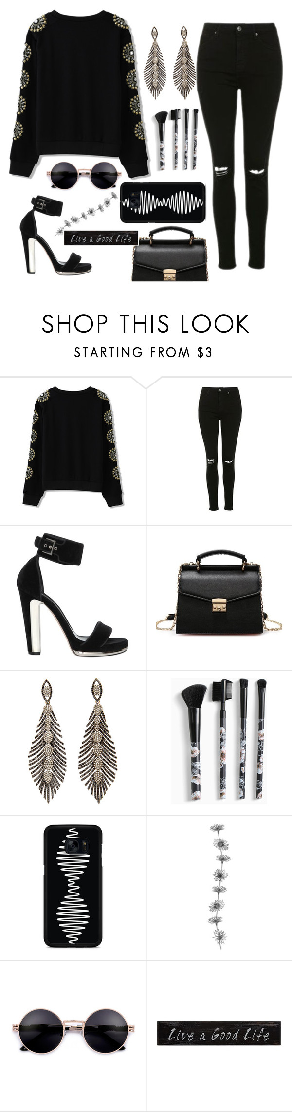 """Uma boa vida"" by thais-santana-1 ❤ liked on Polyvore featuring Topshop, Alexander McQueen, Torrid, Samsung and 3R Studios"