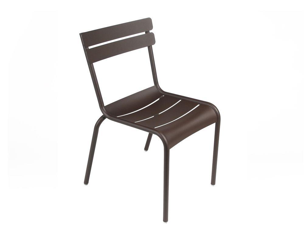 Chaise Luxembourg, chaise de jardin métal | ROUILLE | Patio ...