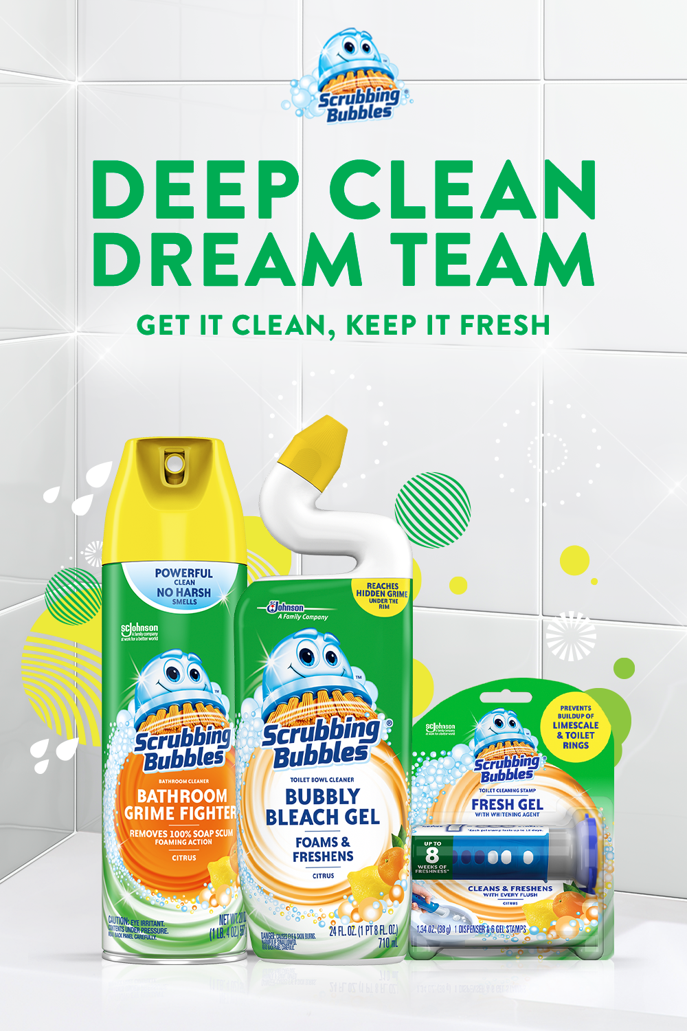 Scrubby Makes Bathroom Deep Cleaning A Dream From Your Shower To Your Toilet Effortlessly Figh Scrubbing Bubbles Easy Homemade Christmas Gifts Cleaning Hacks