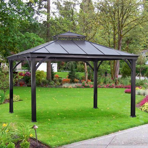 Marta 10 Ft W X 12 Ft D Metal Patio Gazebo Steel Gazebo Patio