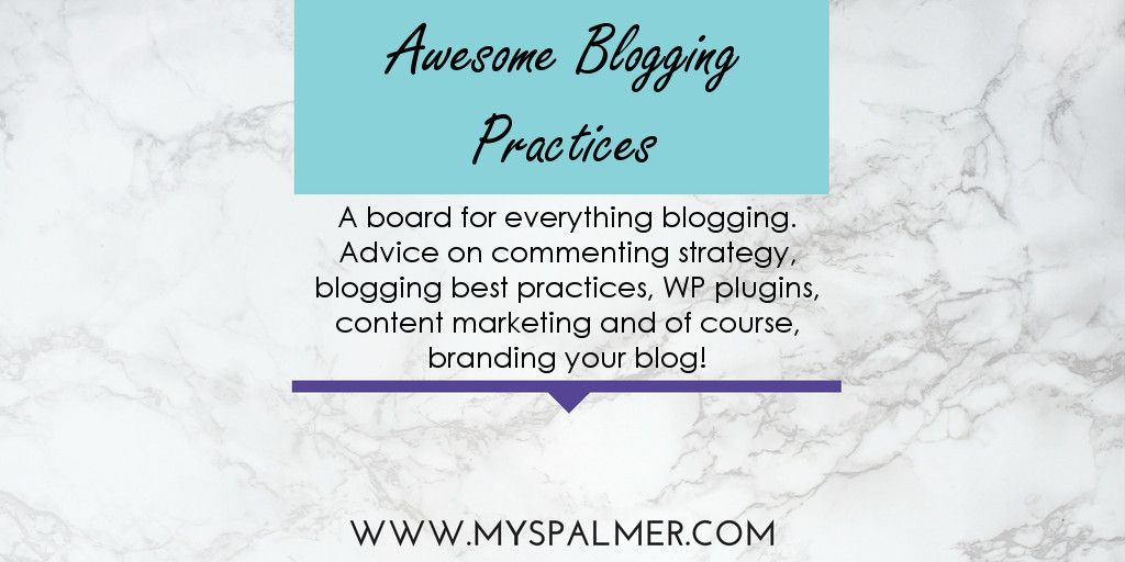 A board for everything blogging. Advice on commenting strategy, blogging best practices, WP plugins, content marketing and of course, branding you blog.
