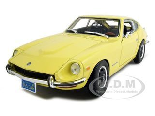 1971 Datsun 240z Yellow Diecast Car Model 1 18 Die Cast Car By Maisto Datsun 240z Datsun Diecast