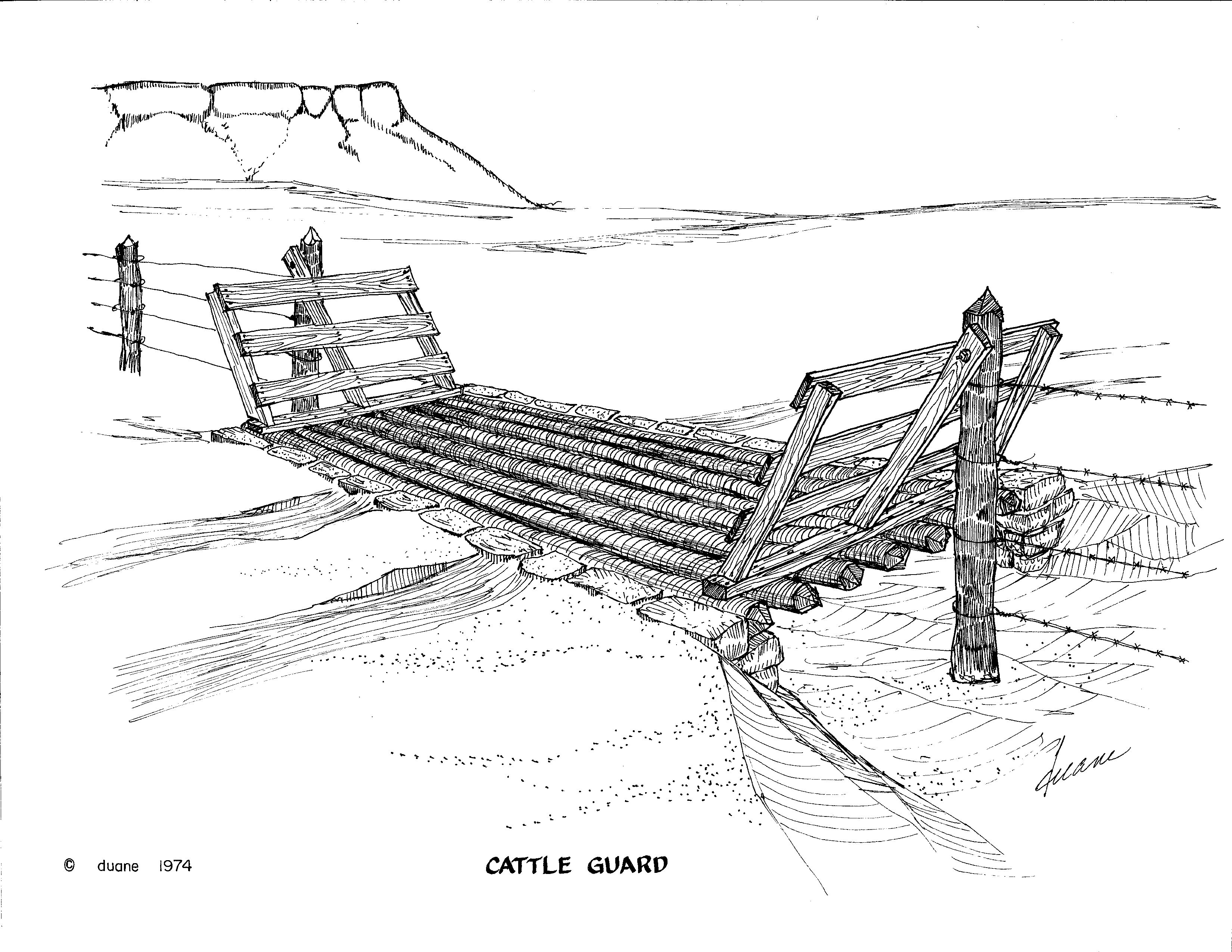 Cattle Guards Were A Must On Ranch Roads Crossing A Fence