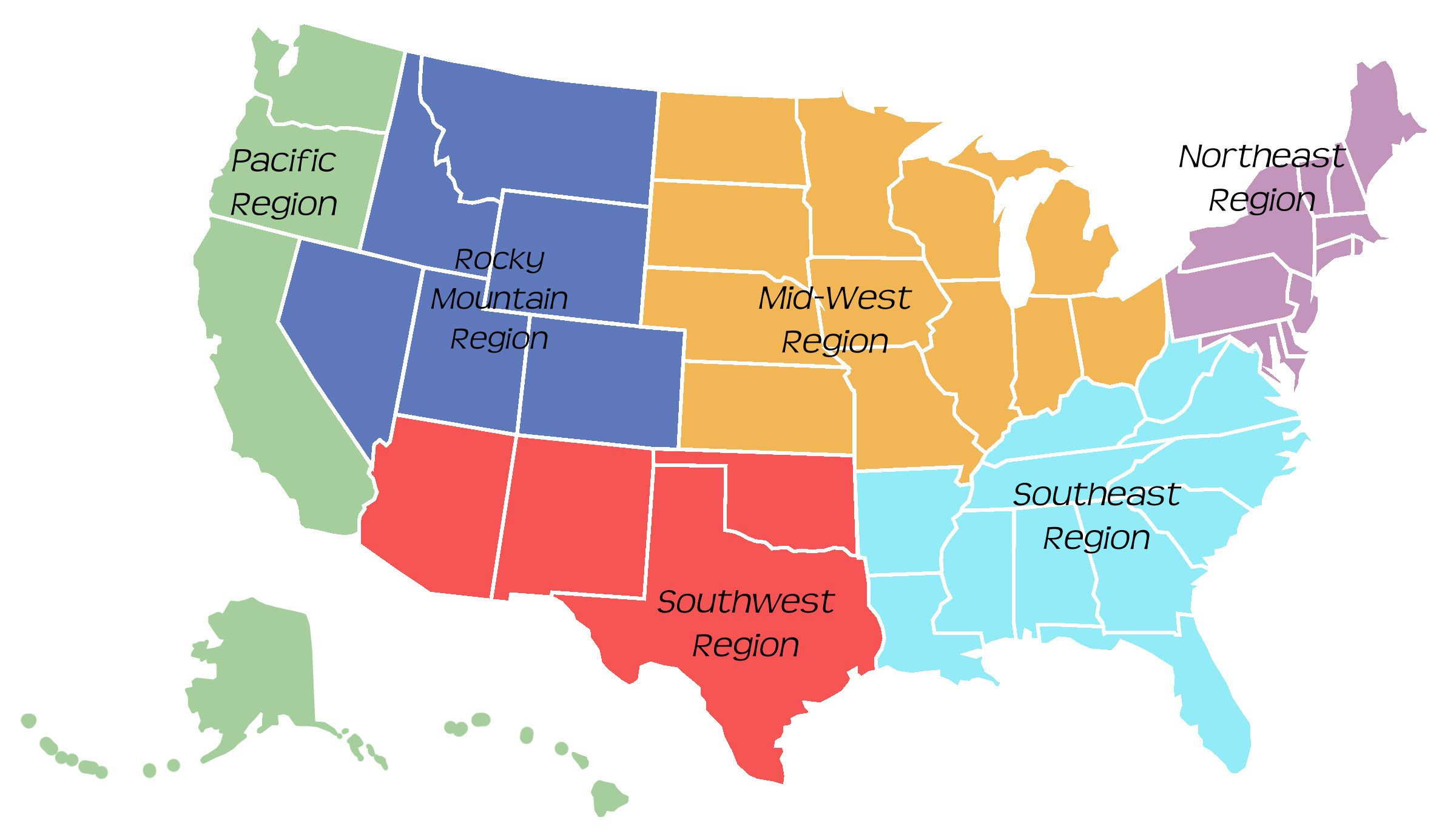 Image Result For Regions Of The United States