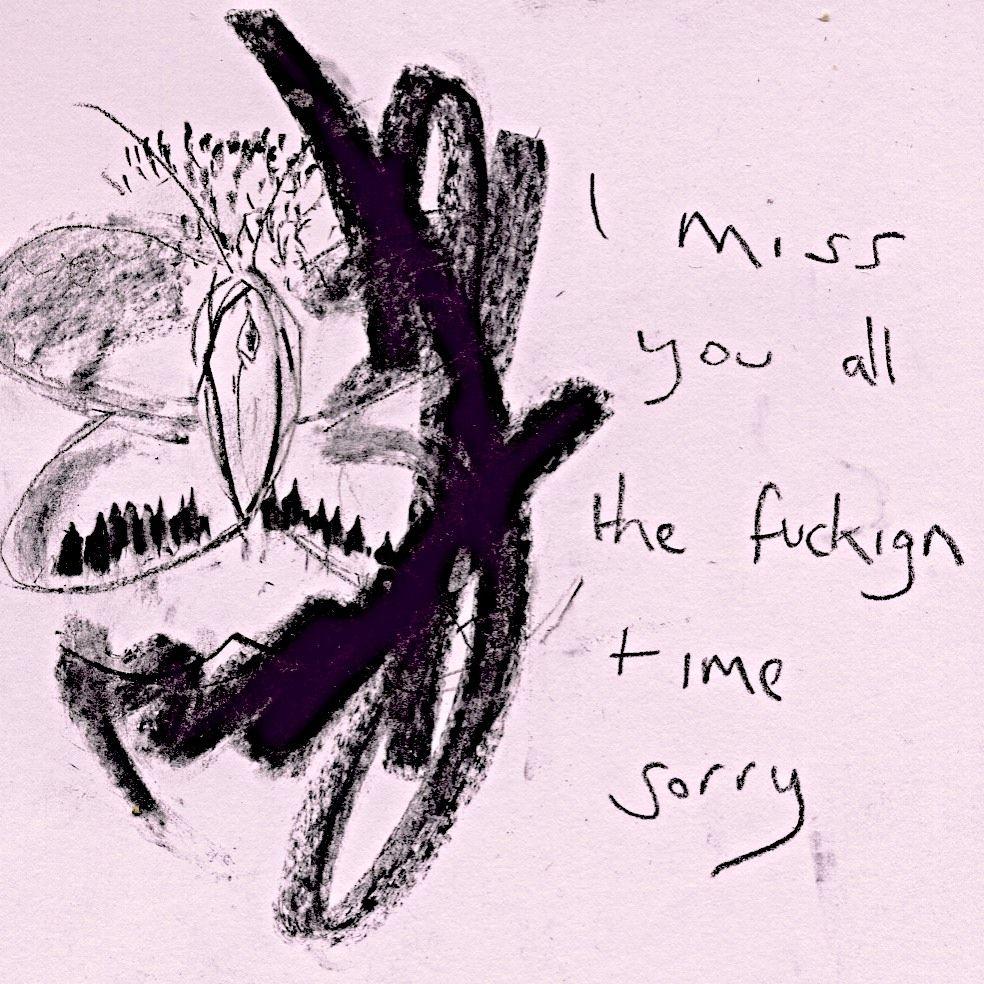I Miss You Art Aesthetic