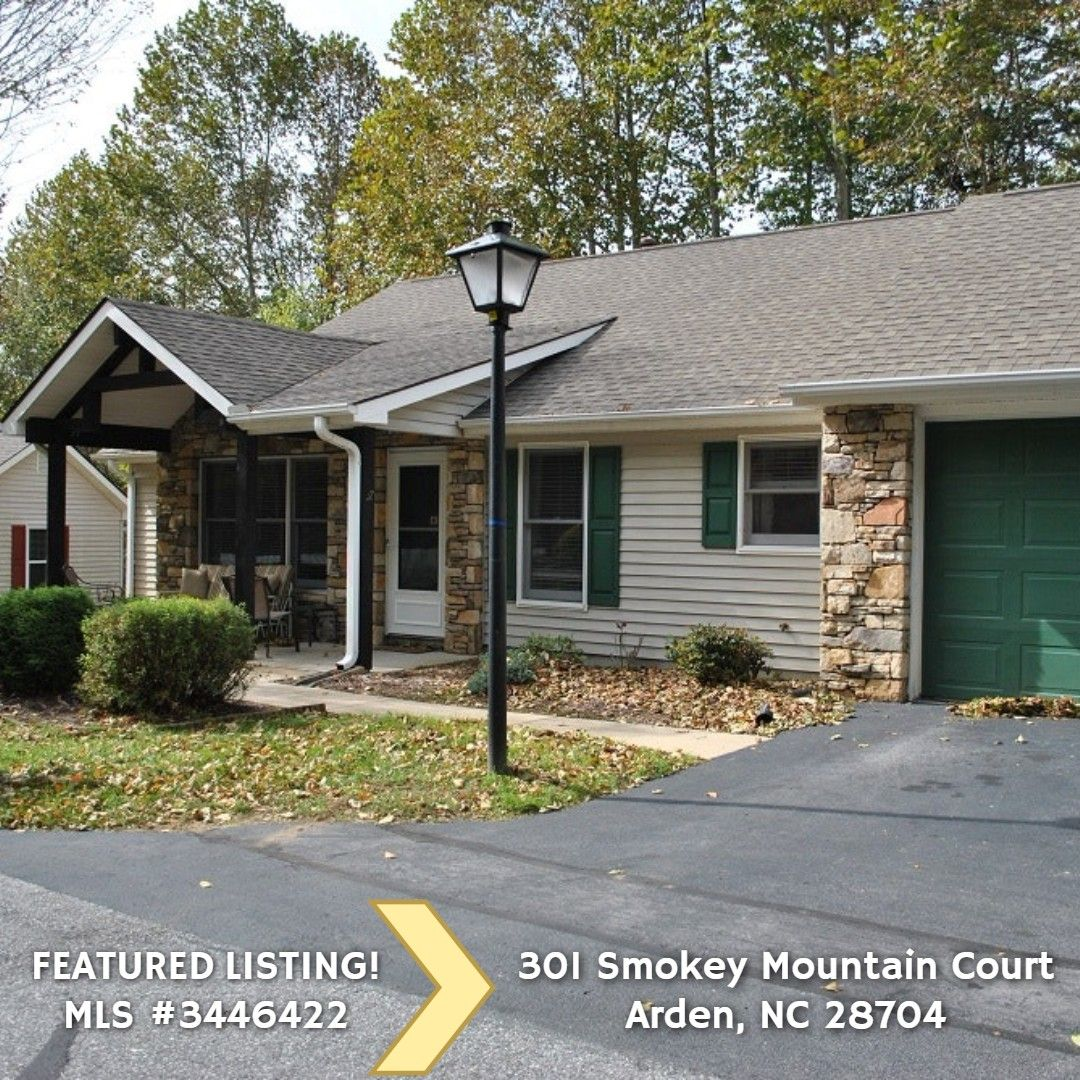Featured Listing 301 Smokey Mountain Court Arden Nc 28704 179 000 Nice Townhome In Popular South Gated 55 Community L Smokey Mountains Smokey Townhouse