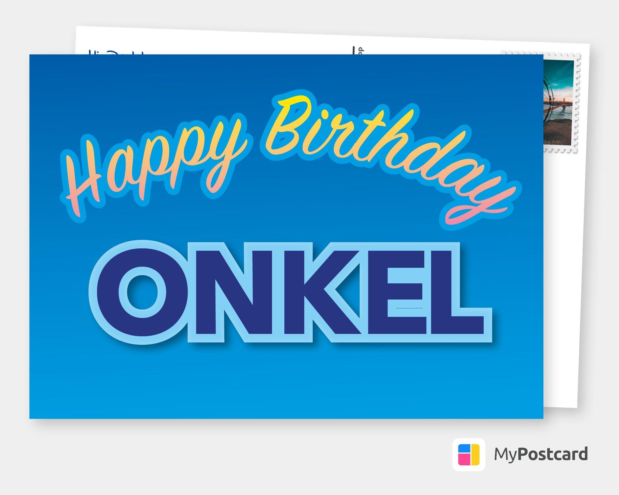 Onkel Geburtstagskarten Spruche Echte Postkarten