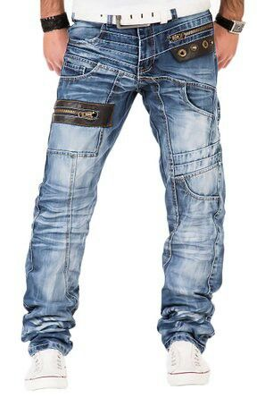 Kosmo Lupo Herren Jeans Denim Hose Japan Style Vintage