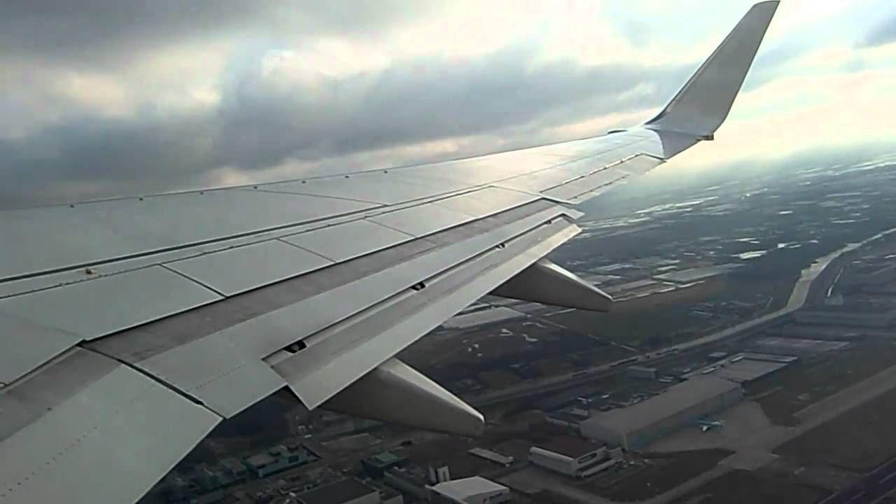 Transavia Vliegtuig Opstijgen Vanuit Amsterdam Schiphol Naar Innsbruckboeing 737 700 Vliegtuig Op Reis Reizen