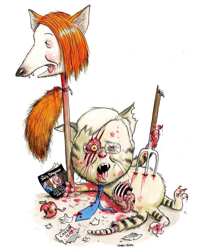 A3 archival art print gillard rudd zombies zombie
