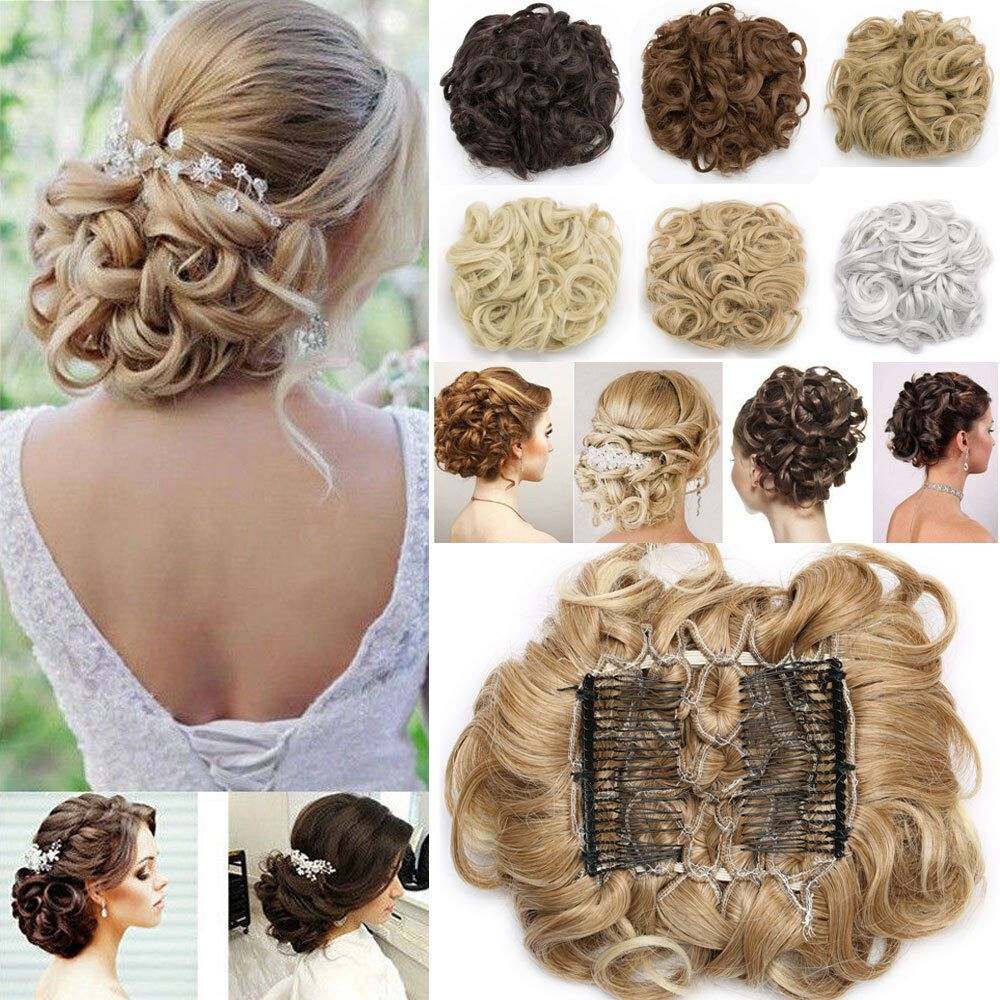 Curly Messy Bun Combs Chignon Scrunchie Updo Cover Hair Extensions As Human Hyt1 Braided Hairstyles Bun Hairstyles Jumbo Braiding Hair