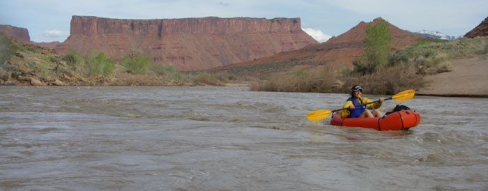 Packrafting in Canyonlands NP, Utah - see p 40 of Backpacker Nov 2013 for route.  Hike Indian Creek to the Colorado River, kayak to the Doll House, hike to the Green River (Maze trail?), kayak the Green River to Red Lake Canyon, then hike to Elephant Hill.