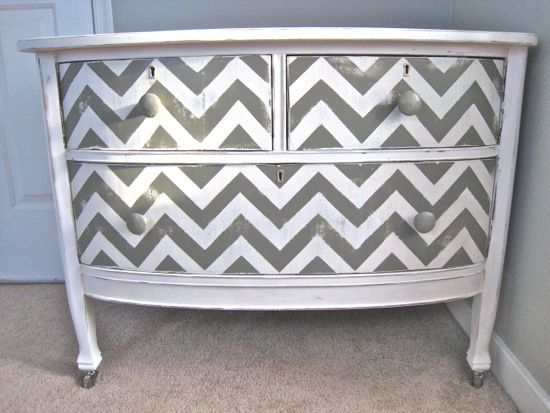 chevron painted furniture. Gold Chevron Striped Dresser Would Love To See It In Mint With A Rose Gold. Painted Furniture N