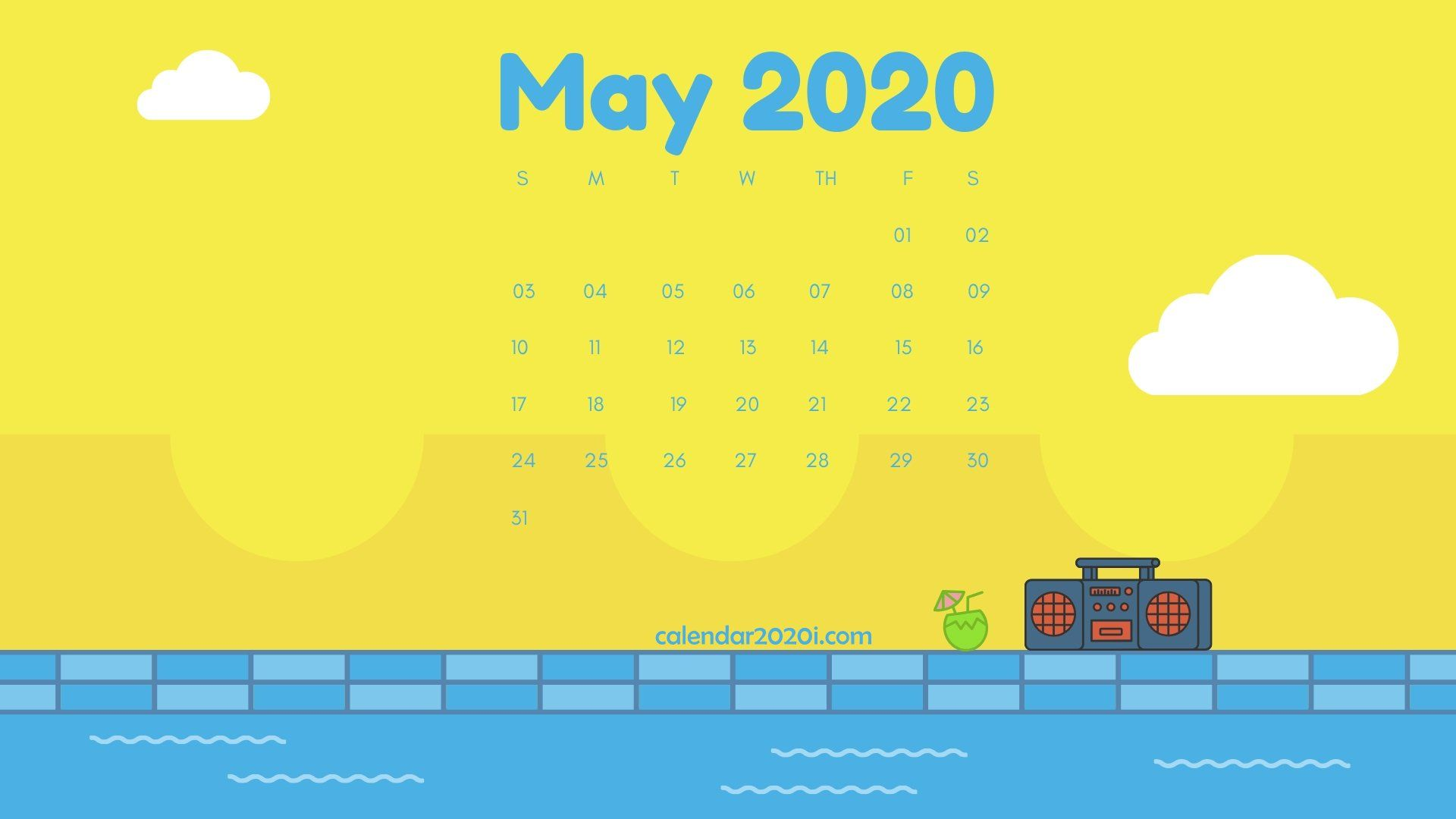 May 2020 Calendar Wallpaper May 2020 Calendar Desktop Wallpaper | Calendar 2020 | Calendar
