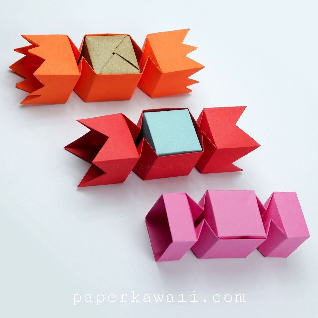 Square Origami Candy Box Instructions Paper Kawaii Origami Candy Box Origami Box Origami Candy