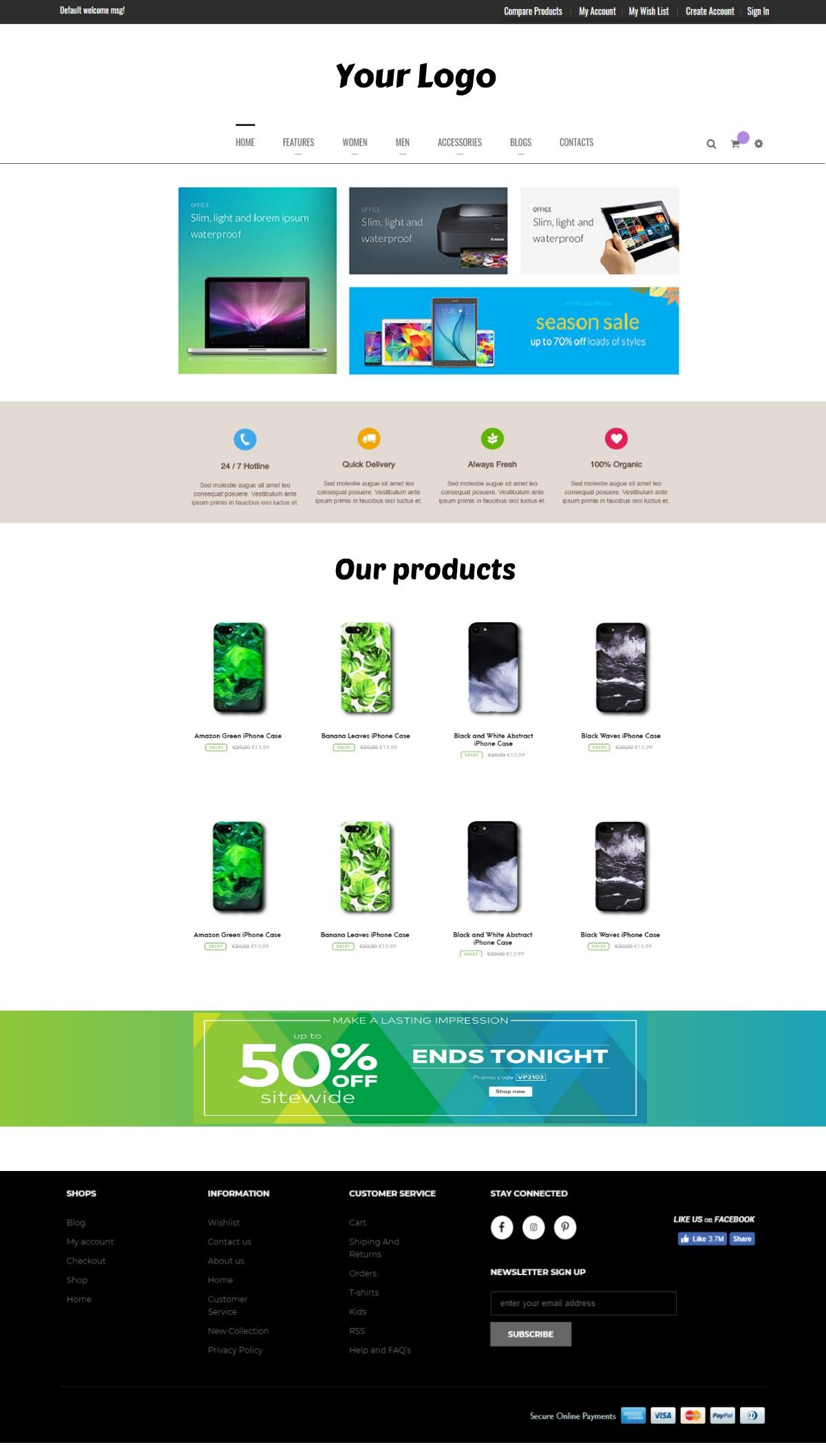 webshop layout example webshops from 800 assist4web com webshop