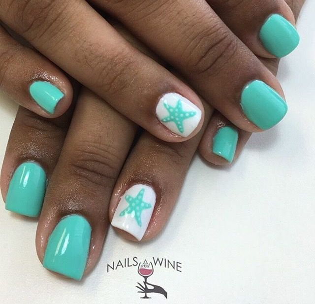Starfish Ooo So Cute Tap On The Link To See The Newly Released Collections For Amazing Beach Bikinis D Cute Beach Nails Beach Nail Designs Cruise Nails