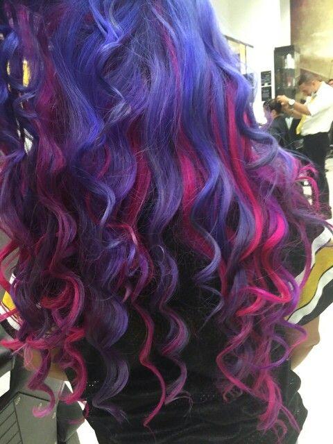 Ultra violet y Hot Hot Pink