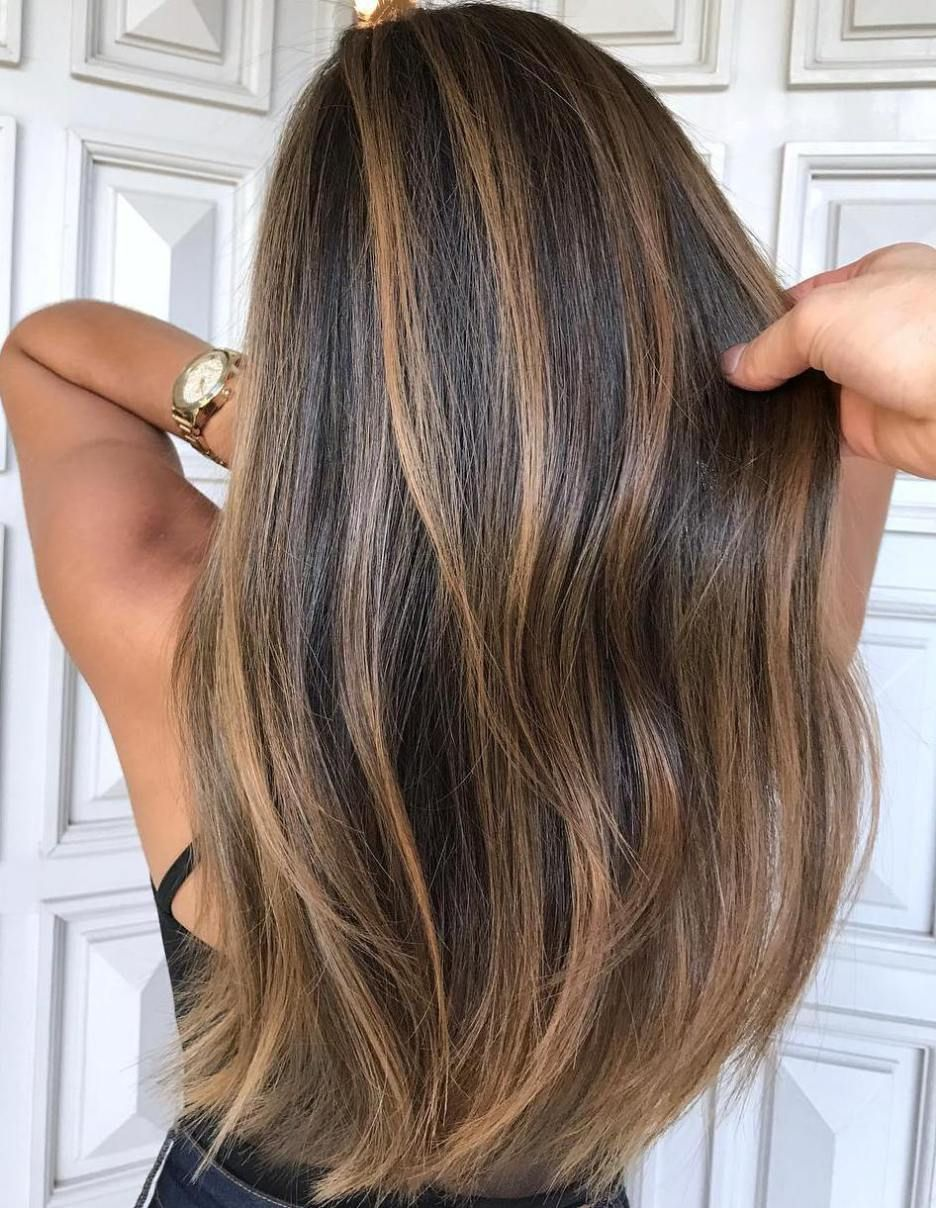 20 Natural Looking Brunette Balayage Styles Hair Style Pinterest