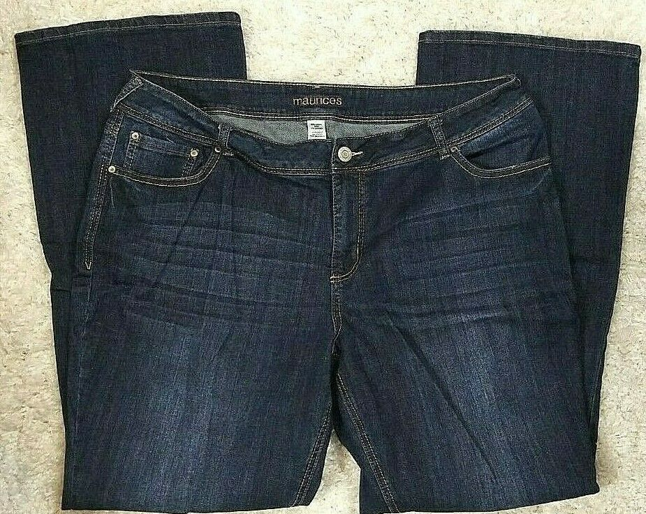 09841578be MAURICES WOMEN BLUE JEAN BOOT CUT SZ 22L (41W x 34L) #MAURICES ...