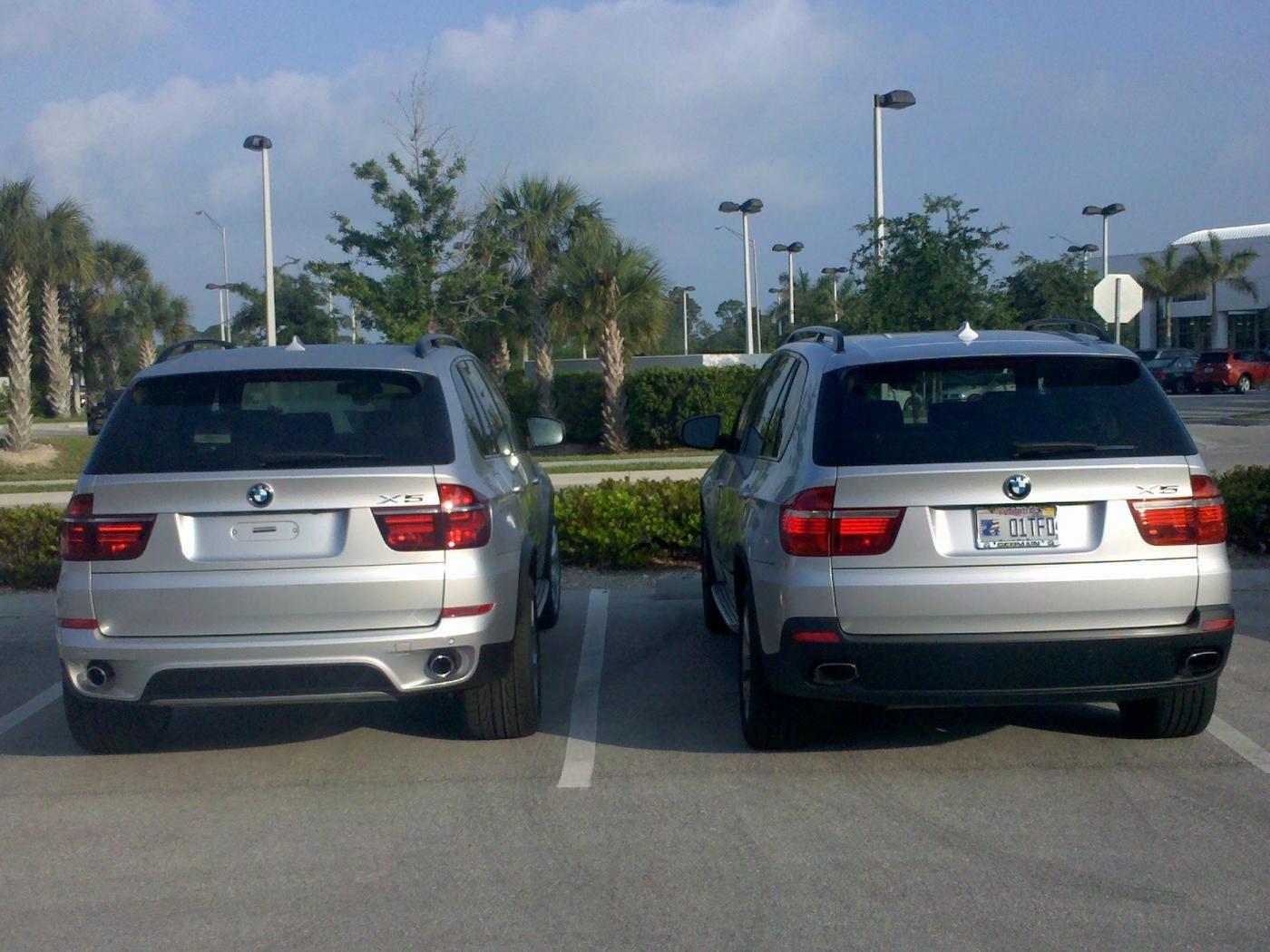 2010 BMW X5 vs 2011 X5 in pictures  Xoutpostcom  BMW X5