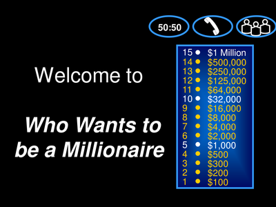 Who Wants To Be A Millionaire Template Family Worship Night Ideas