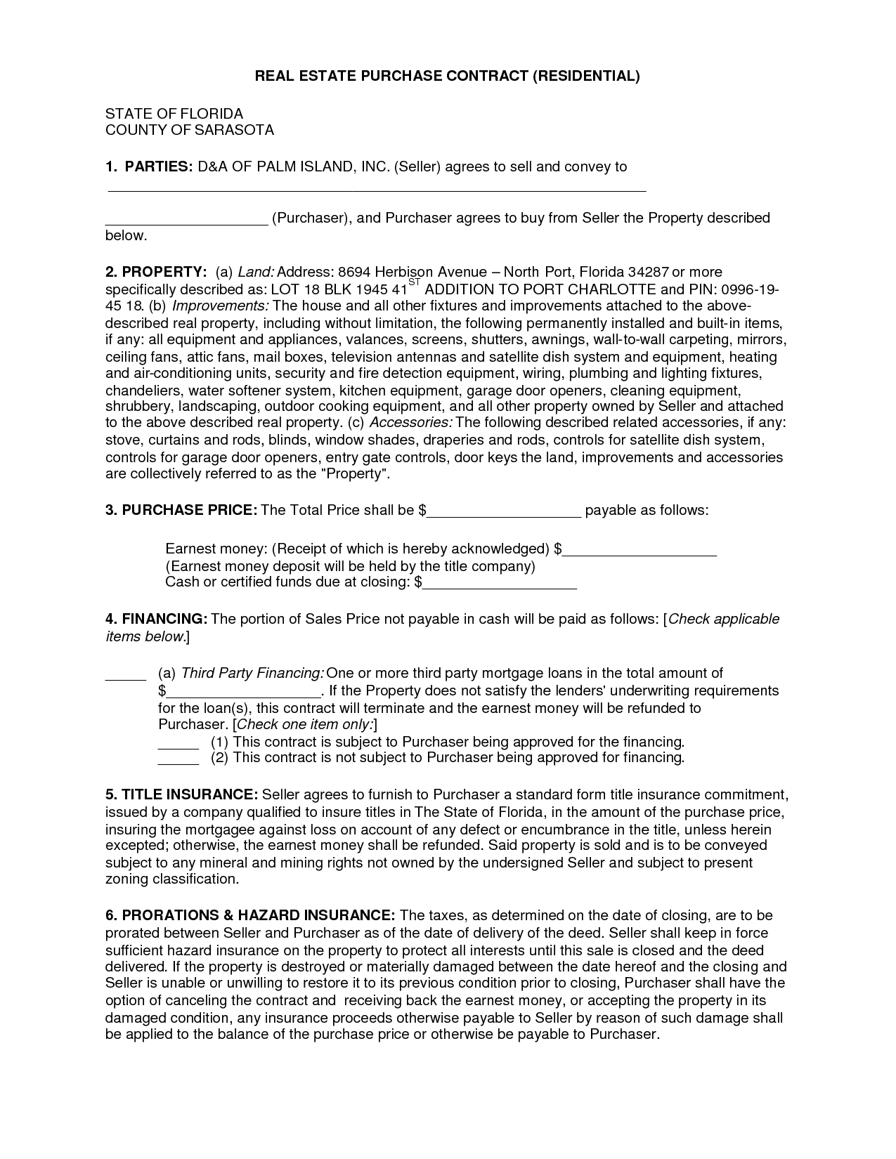 Sales Agreement Template Free Free Real Estate Purchase
