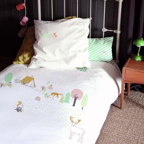 Mimi+Lou+Housse+de+Couette+enfant+-+Forêt chambre enfant