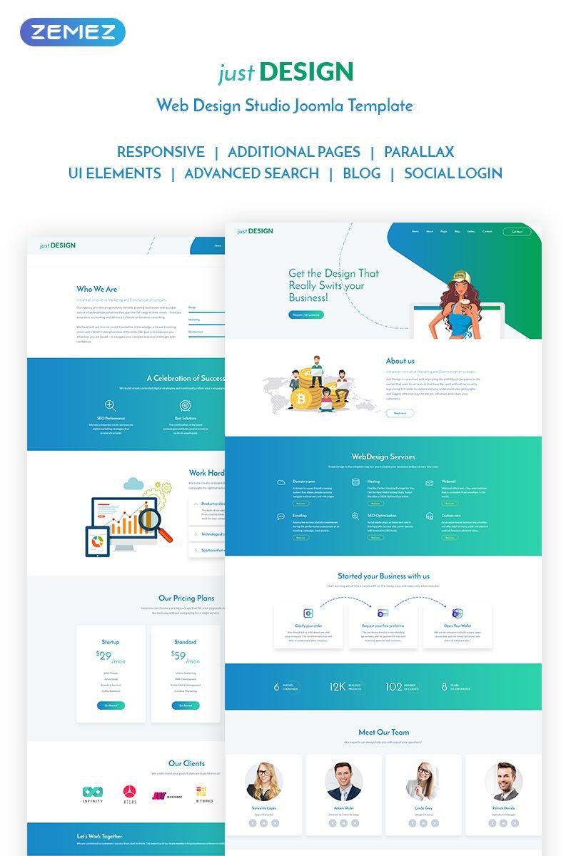 Justdesign Web Design Studio Joomla Template 71955 Web Design Joomla Templates Web Design Studio