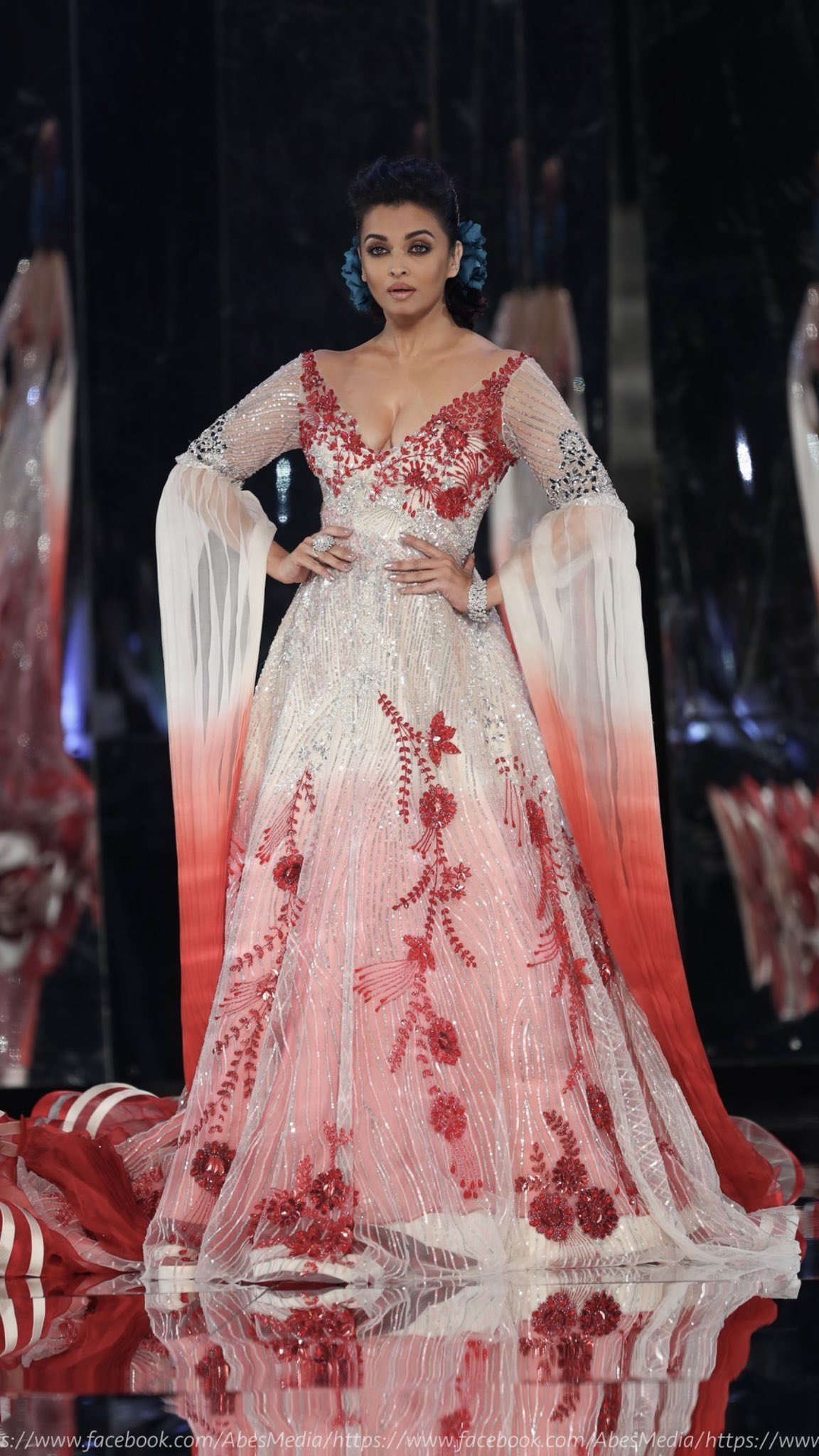 e649e4e0b8b8e Aishwarya Rai Bachchan walks for the 3rd time as Showstopper for Ace  Bollywood Designer Manish Malhotra at a Fashion Show at Doha , in Qatar .