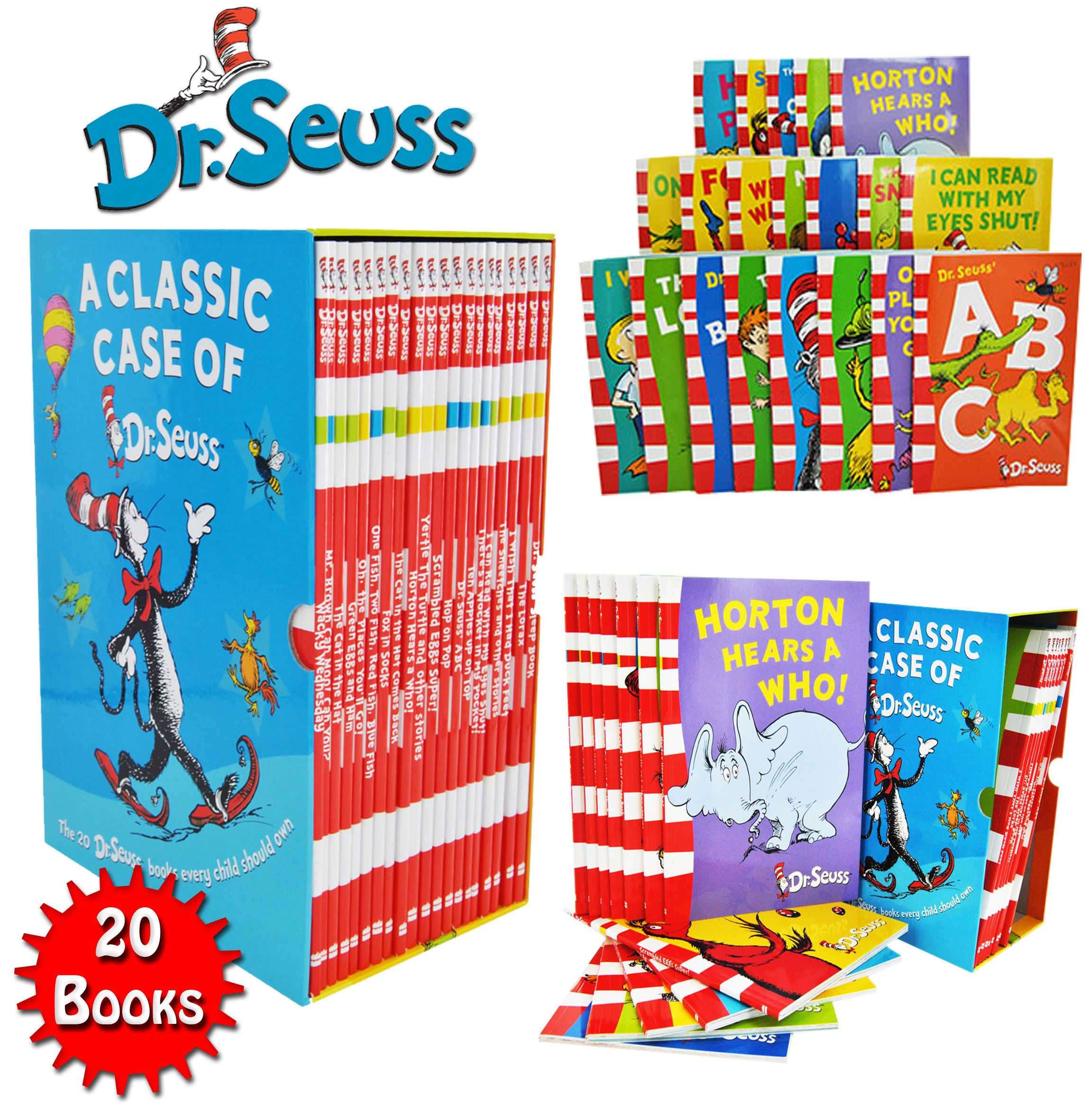 The Wonderful World Of Dr Seuss Series 20 Books T Box