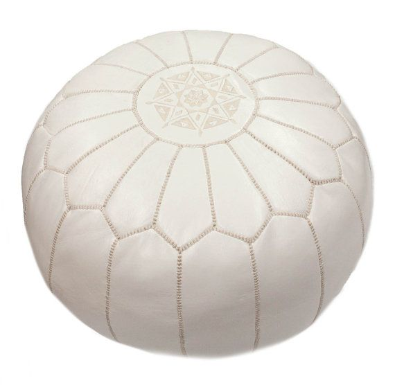 """Moroccan Ottoman 14"""" H x 20"""" W x 20"""" D $166, other colors avail"""