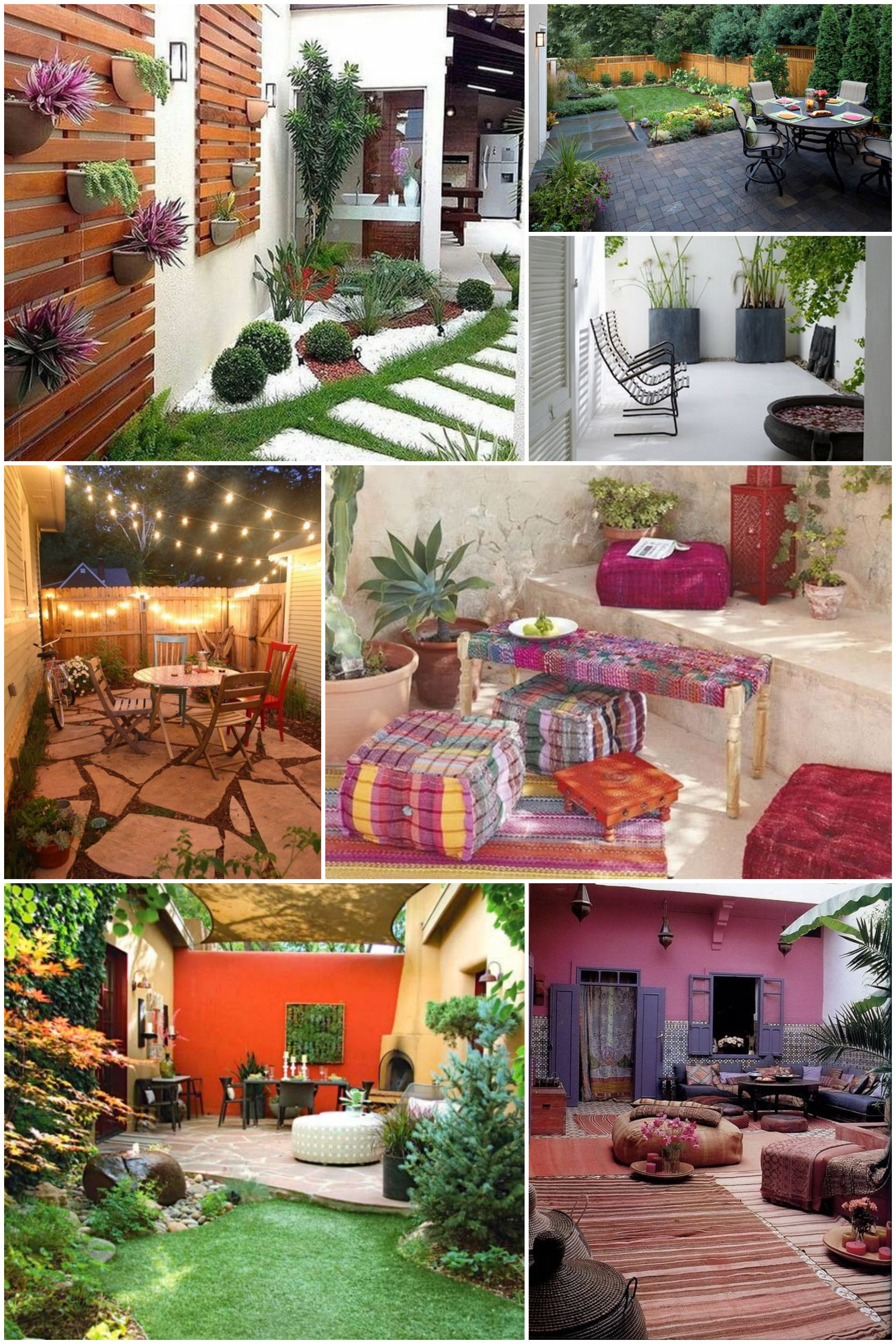 Ideas para patios peque os decoraci n de jardines for Decoracion para jardines exteriores