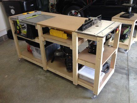 Workbench c table saw and router for the home garage and budget mobile workstation woodworking benchwoodworking shopwoodworking projectsrolling workbenchtable saw workbenchrouter greentooth Gallery