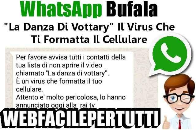 """(WhatsApp) Bufala """"La Danza Di Vottary"""" Il Virus Che Ti Formatta Il Cellulare WhatsApp Bufala """"La Danza Di Vottary"""" Il Virus Che Ti Formatta Il Cellulare    Massima attenzione. Anche voi avete ricevuto su Whatsapp il messaggio """"Per favore avvisa tutti i contatti della tua lis #whatsapp #bufala #danza"""