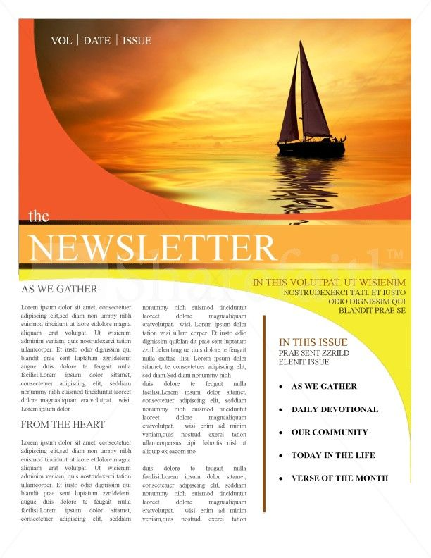 Church Newsletter Templates  Newsletters    Newsletter