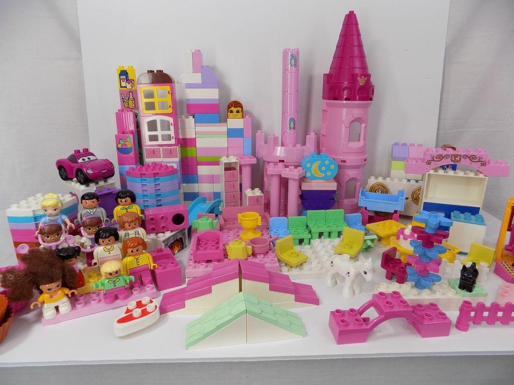 Lego duplo building blocks girls pink purple furniture - Lego duplo ideen ...