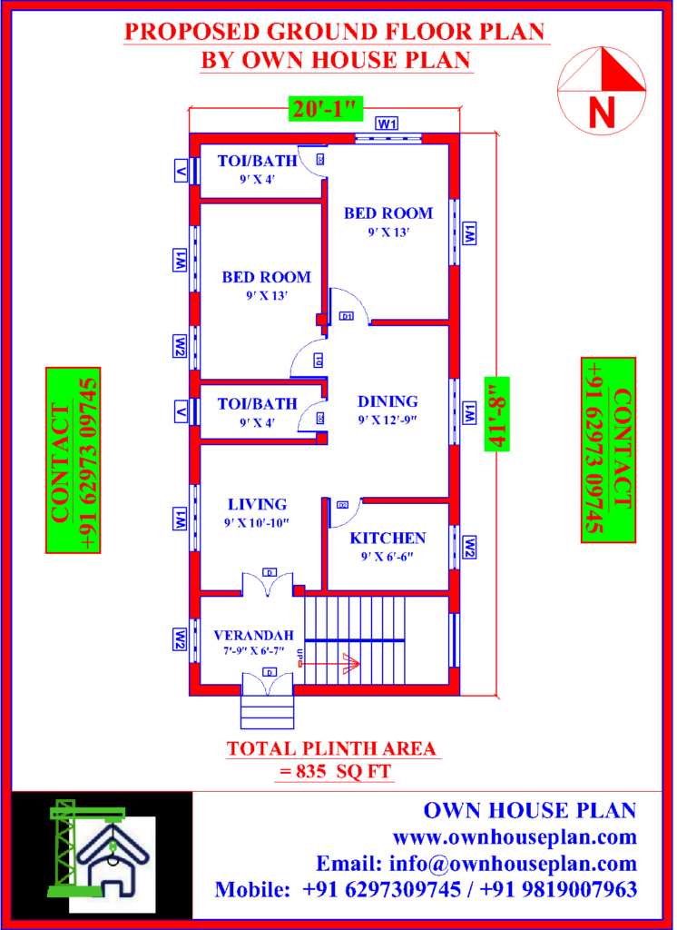 A House Plan Is Necessary For Construction Of A House It Helps You Visualize How The House Should Look Like When It House Plans How To Plan South Facing House