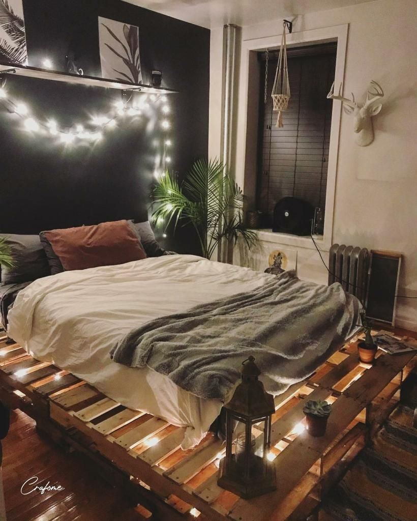 50 Adorable Pallet Bed Ideas You Will Love In 2020 Pallet Beds Pallet Bed With Lights Pallet Bed