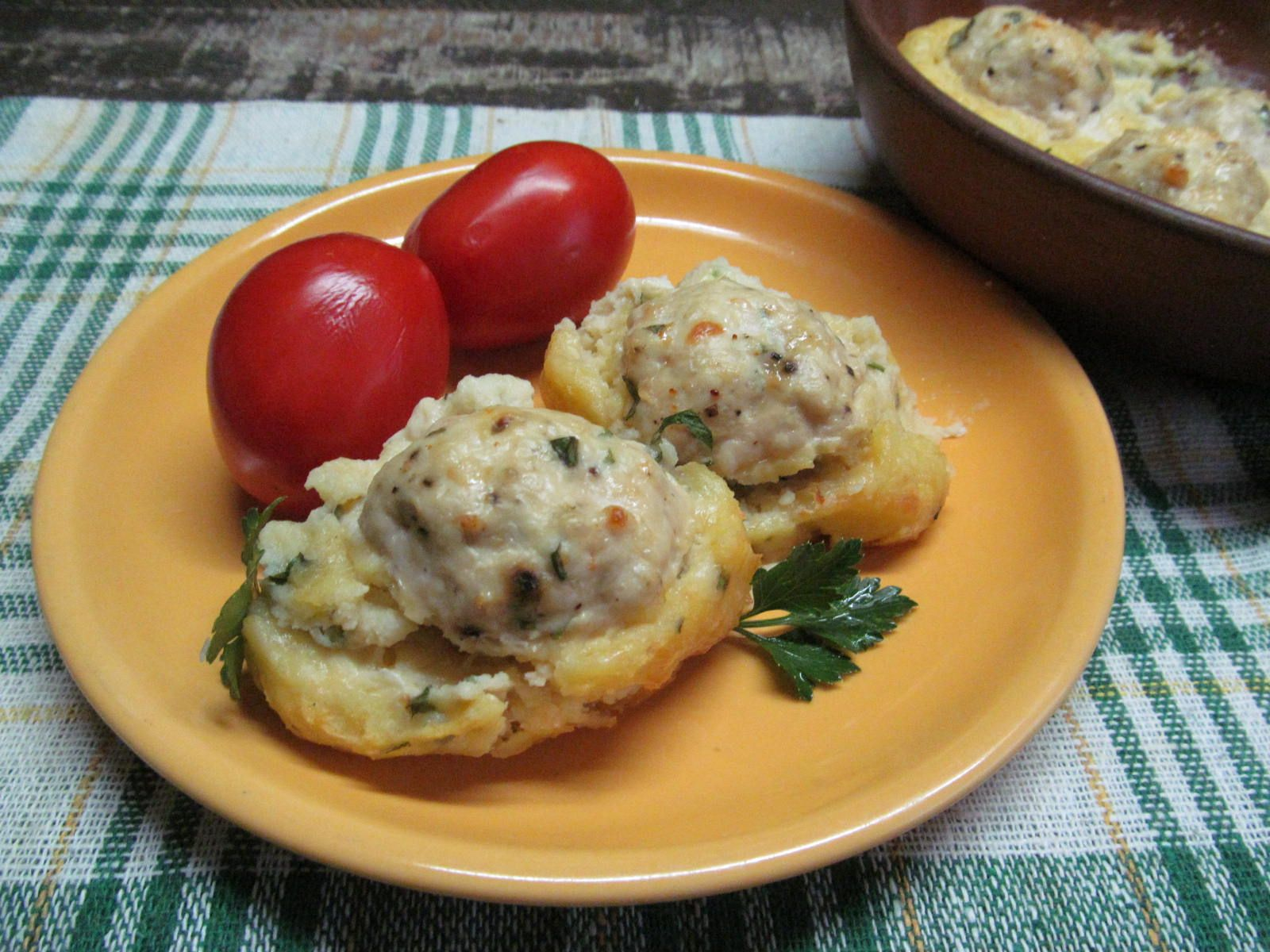 Запеканка из картофеля с фрикадельками | Рецепт ...