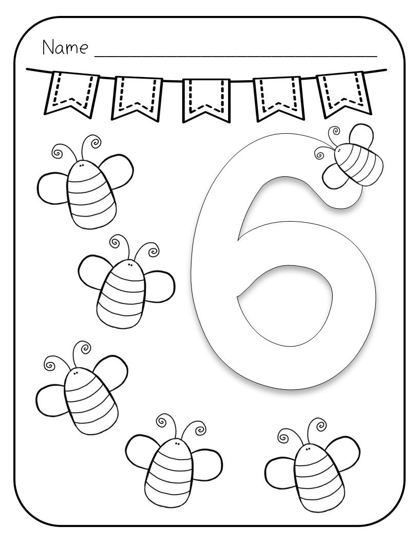 This Product Includes 10 Black And White Number Coloring Pages Each Page Displays A Number And Pictu Coloring Pages Learning Numbers Preschool Letter A Crafts
