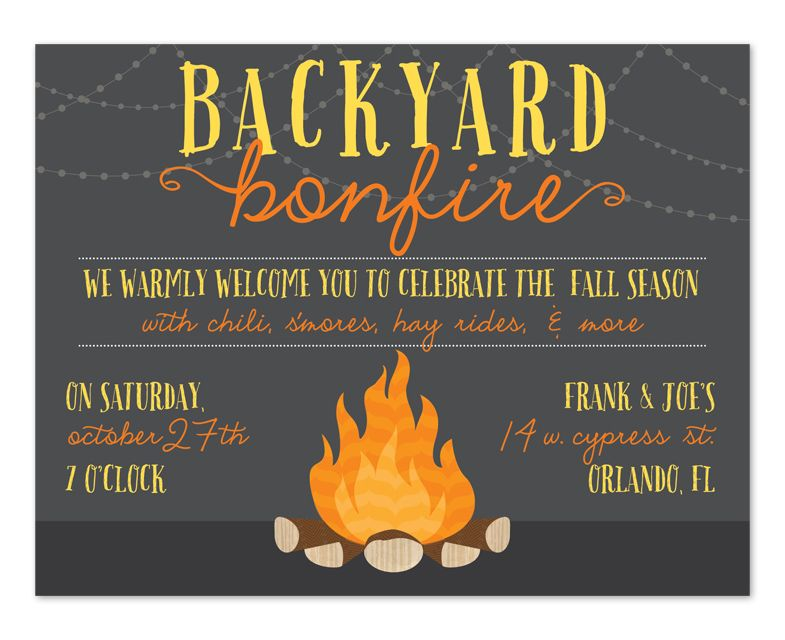 Backyard Bonfire Birthday Party