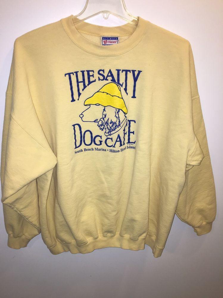 The Salty Dog Cafe Vintage  89 Sweatshirt South Beach Marina Hilton Head  2XL  ac3e946f5