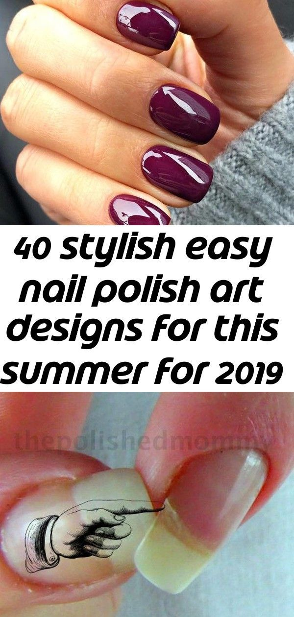 40 stilvolle einfache Nagellackkunstentwürfe für diesen Sommer für 2019 Teil 16 – #dieses #Einfache # Nagellackkunstentwürfe #Sommer