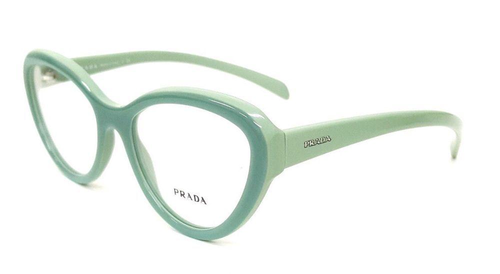 56b7d0f02155 PRADA Frames Light Green Women Plastic Eyeglasses VPR 25R TKQ-101 52mm   PRADA